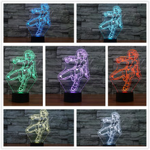 2017 Cartoon Avengers Super Hero Action Figures 3D USB LEB Tablet Bedside Lamp Black Widow Illusion Colors Night Light kids Toys