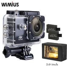 Wimius Action Camera 4K Full HD 1080P Wifi 2.0 inch CMOS Video Sports Mini Helmet Cam Go 40M Waterproof Pro Car DVR + Accesories(China)