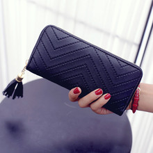 women wallets Big Capacity famous brand pu leather wallet Tassels designer wallets with coin pocket purse card holder for women
