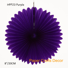 30pcs/lot 8inch=20cm Purple Round Tissue Paper Honeycomb Fans Hanging Wedding Pinwheel Birthday Party Favors