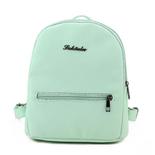 brands Candy color Backpacks children School Bags For Teenager girls leather Back Pack women girl leisure travel bag sac a dos