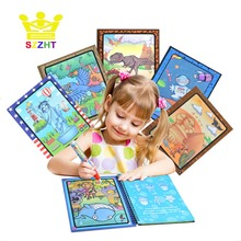Drawing Album Toys Cartoon Doodle Refill Coloring Book Paint Learning Water Painting Notebook Recycled Refillable Pen Cardboard