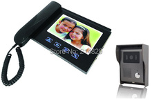 "Office Security 7"" TFT Screen Color Video Door Phone Bell of handset and handfree intercom Kit with Night Vision Camera"