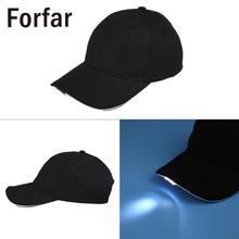 Forfar Unisex Adult 5LED Lighted Cap Baseball Hat Night Light Fishing Hunting Camping(China)