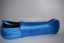 Blue 6mm*24m Replacement Synthetic Rope for Winch,ATV Winch Cable,Towing Rope,ATV Winch Line(China)