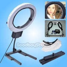 Studio 40W 5400K Photo Diva Ring Light with Diffuser + Flexible Table Top Base Stand for Makeup Yutube Video Photo Lights 220V