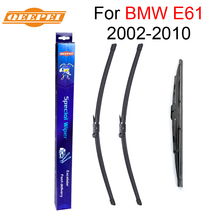 QEEPEI Front and Rear Wiper Blades For BMW E61 2002-2010 High Quality Natural Rubber Windscreen Car Accessories(China)