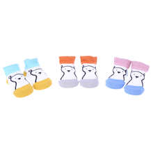 Buy 3 pair/lot Cotton Baby socks Newborn Floor socks Boys Girls Cute Cartoon Baby Toddler Socks infant Anti-slip Warm Baby socks for $1.63 in AliExpress store