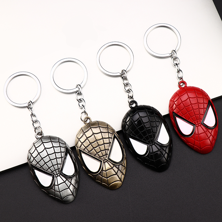 Metal Marvel Avengers Captain America Shield Keychain Spider man Iron man Mask Keychain Toys Hulk Batman Keyring Key Gift Toys (89)