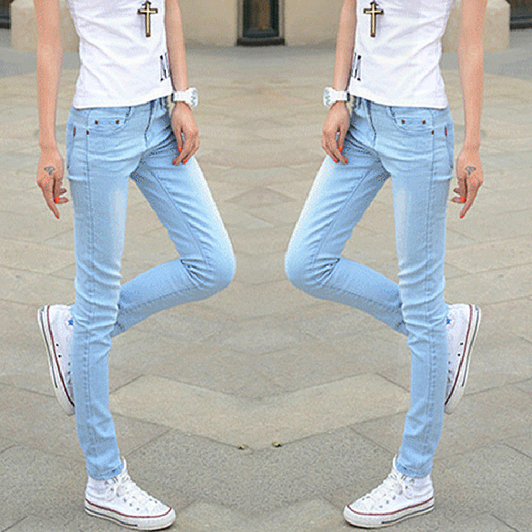 Mid-waist full-length skinny solid cowboy 2017 new fashion women slim pencil jeansОдежда и ак�е��уары<br><br><br>Aliexpress