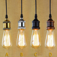 Single Edison Bulbs Pendant Lights Vintage E27 Light Bulbs Light Cafe / Bar Lights Free Shipping(China)