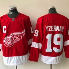 Mens #19 Steve Yzerman red Home 100% Embroidery Hockey Jerseys High Quality free shipping(China)