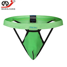 Buy 4pcs Men Underwear Jockstrap Male Sexy Gay Thongs Mesh Hollow Short Tanga hombre Penis Hombre Comfortable Strings Short WJ Brand