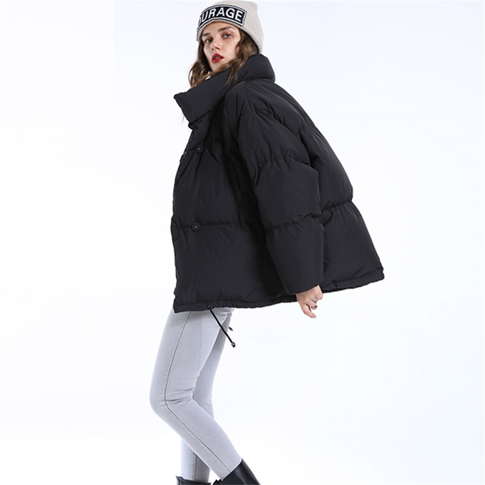 Autumn Winter Jacket Women Parkas Mujer 19 Fashion Coat Loose Stand Collar Jacket Women Parka Warm Casual Plus Size Overcoat 9