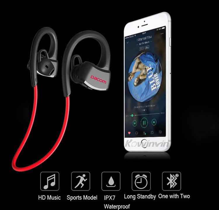 Fast Delivery High-quality Bluetooth Earphone IPX7 Waterproof Wireless Sports Swimming Running Headphone Stereo Music Headset