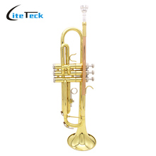 Exquisite Trumpet Bb B Flat Brass Trumpet Phosphor Copper with High Quality Mouthpiece Cleaning Brush Glove Strap