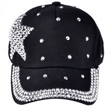 2017 Time-limited Acrylic Cotton Unisex One Size Casual New Fashion Children Cap Most Popular Rhinestone Star Shaped Color