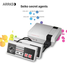 ARRKEO Childhood Retro Mini Classic Family TV 8 Bit Video Game Console Player Built-in 620 Games With Double Handle Controller(China)