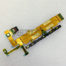 1PCS For Sony Xperia Z4 4G Version Power Volume Button USB Charging Port Microphone Flex Cable for Xperia Z3+ 4G Version