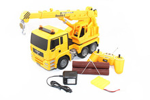 High Simulate 6 Channels Crane Truck Radio Control Hoist Truck Project Engineering Truck Electronic Vehicle Model Toy(China)