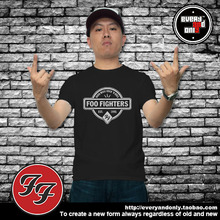Foo Fighters Alternative rock Band Hand Made Cotton T Shirt Casual and Cotton Short Sleeve Clothes(China)