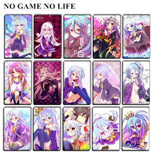 20 pcs/lot cute NO GAME NO LIFE Card Stickers baby toys Anime Classic Cartoon Kotobukiya Game of Life DIY Bus ID Card Stickers