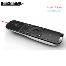 Mini i7 Laser Keyboard USB 2.4Ghz for PC/Smart TV/Android TV Box/TV Dongle Air Mouse Remote Control Keyboard Gyroscope Wireless