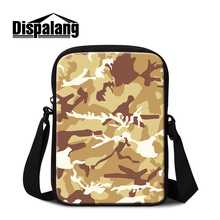 Dispalang Name Brand Small Messenger Bags for Men Low Price Mini Side Bags Popular Cross Body Bags Print Camouflage Pattern Boys(China)