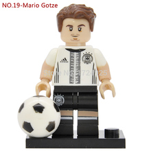 Germany National Football team NO.19 Mario Gotze Figure retail Building Blocks Bricks Toys Action Figure Sport