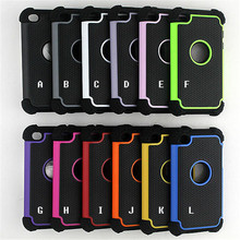Ballistic Plastic Hard Case Silicone Cover For iPod Touch 4 Back Cover Logo Hole(China)