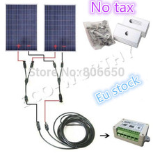 DE stock, 200w solar system for home no tax, COMPLETE KIT 200W Solar Panel cells off grid system, *