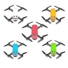 Cool Shark PVC 3M Glue Camera Drone Decals Skin Sticker for DJI Spark Drone & Battery (2 sets. blue eye set & black eye set)(China)