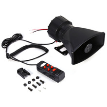 60W 12V For Car Auto Truck Loud Horn Siren Police Ambulance Fire Alarm With MIC 300db