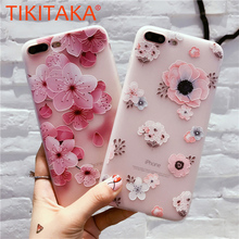 Buy Flower Pattern Case iPhone 8 7 6 6s Plus Fitted Cases 3D Relief Floral Phone Cases Ultra thin Soft Silicon TPU Protect Cover for $1.39 in AliExpress store