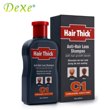 Hair Loss Products Hair Thick Dexe 200ml C1 Anti-hair Loss Shampoo with Hair Growth Serum for Men(China)