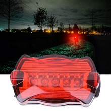 HOT Ultra Bright Road Mountain Bikes Butterfly Tail FlashLight Taillight Safety Warning Bicycle Rear Light Lamp Drop Shipping