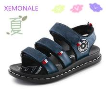2017 Summer male child sandals children sandals genuine leather Baby Boys Summer Sandals Casual comfortable summer Beach shoes