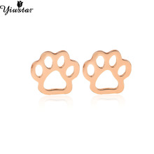 Buy Yiustar Tiny dog paw stud earrings women Puppy cute children earrings bijoux femme Post Dog Jewelry Accessories ED163 for $1.25 in AliExpress store