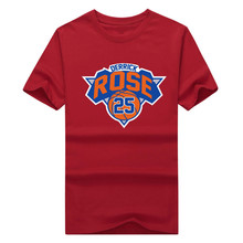 2016 fashion Derrick Rose New York T-shirt 100% cotton short sleeve o-neck T shirt 1018-5