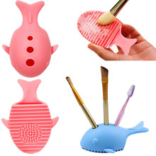 Silicone Makeup Brush Cleaning Washing Holder Tools Cosmetics Board Stand Tool best seller#30(China)