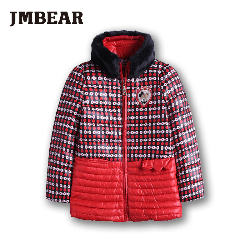 JMBEAR girls down coat kids winter jacket Faux Fur Fleece outwear padded coat girls white duck down feather parkas 2-6 YearsОдежда и ак�е��уары<br><br><br>Aliexpress