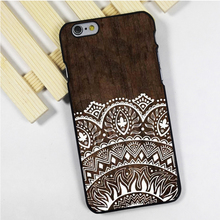 Fit for iPhone 4 4s 5 5s 5c se 6 6s 7 plus ipod touch 4 5 6 back skins phone case cover Imitation Wood Lace Ethnic Patterns