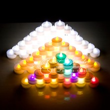 Candle Wedding Candle LED Flameless Electronic Candle 1.5 inch Smokeless Flicker Led Tea Light Votive Decorative Candles