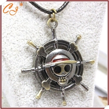 Japanese anime peripheral accessories one one piece the new foreign trade the rudder sautoir sailing king necklace