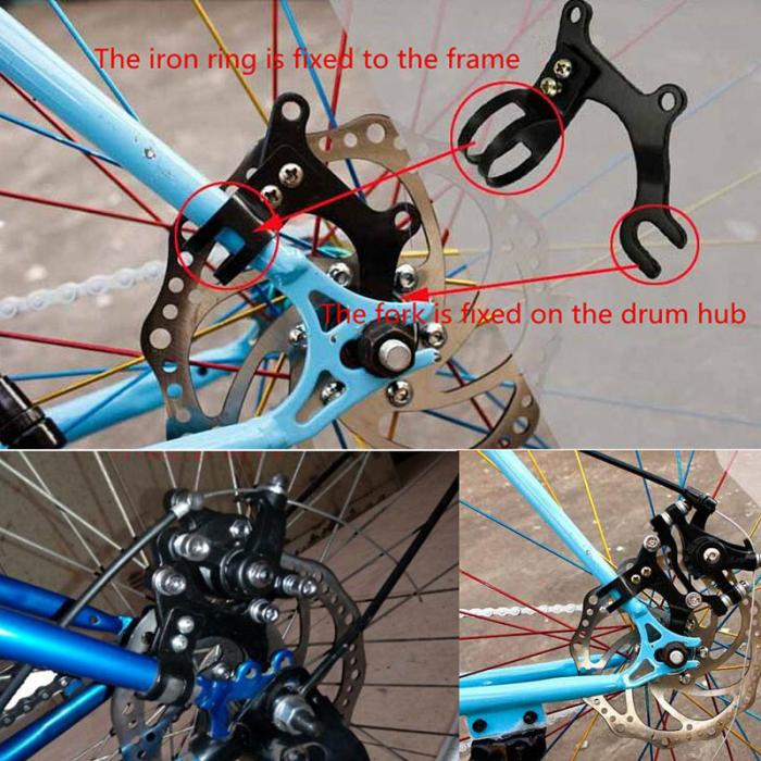 Bicycle Mountain Bike Rack Disc Brake Bracket Frame Adapter Mounting Holder RU