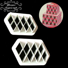 Yueyue Sugarcraft 2 pc plastic fondant cutter cake mold fondant mold  fondant cake decorating tools sugarcraft bakeware