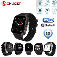 New Arrival Bluetooth 4.0 Smartwatch Android Watch Phone N8 Quad Core 3G Watch with Camera 512MB RAM 8GB ROM GPS WiFi Pedometer