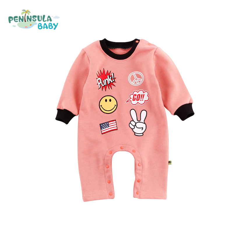 Spring Baby Girls Long Sleeve Romper Jumpsuit Playsuit Outfits Baby One Piece Cute Cartoon Infant Boys Rompers Kids Clothing<br>