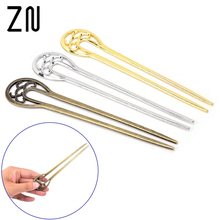 1Pcs Retro Women 16cm Long Metal Wedding Party Hair Stick Pick Fork Antique Hairpin Hair Jewelry