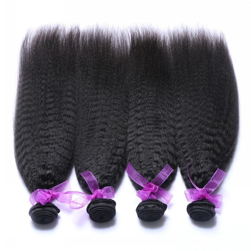 Cheap Unprocessed Brazilian Virgin Human Hair 4Bundles Kinky Straight Brazilian Coarse Yaki Virgin Hair free shipping<br><br>Aliexpress